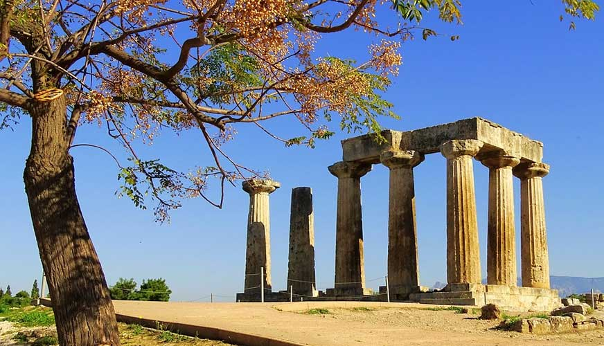 Ancient Corinth & Daphni Monastery Half day Tour from Athens