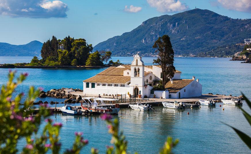 Grand Island Corfu Tour: Achilleion Palace, Paleokastritsa & Corfu town