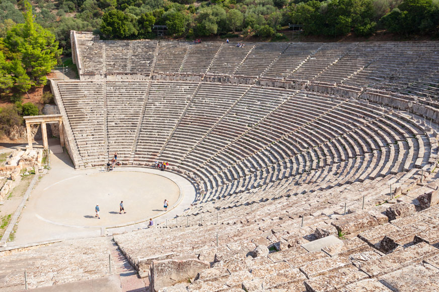 Classical Greek Play at Epidaurus Theatre with transport from Athens