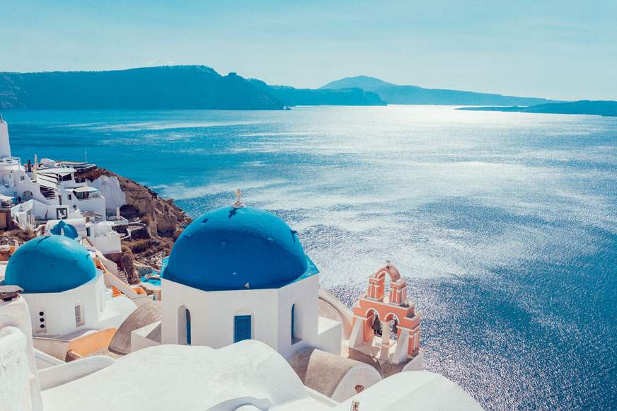 Caldera morning boat tour from Santorini